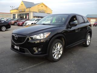 Used 2015 Mazda CX-5 GT AWD 2.5L Heated Leather Nav BackUpCam Roof for sale in Brantford, ON