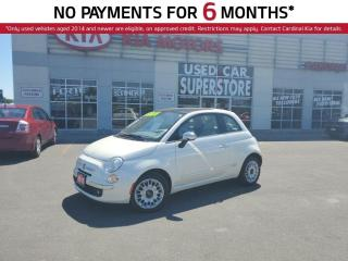 Used 2015 Fiat 500 Lounge, Leather, Sunroof, Bluetooth. for sale in Niagara Falls, ON