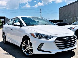 Used 2017 Hyundai Elantra |LIMITED|MEMORY SEATS|NAVI|SUNROOF|BLIND SPOTS|REAR CAM! for sale in Brampton, ON