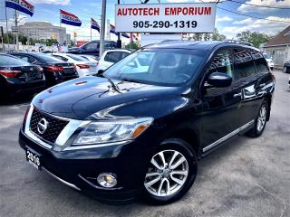 Used 2016 Nissan Pathfinder SL AWD Leather/Camera/Htd Seats/ 7-Pass & GPS* for sale in Mississauga, ON