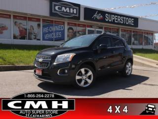 Used 2013 Chevrolet Trax LTZ  AWD LEATH ROOF BOSE CAM P/SEAT HS BT for sale in St. Catharines, ON