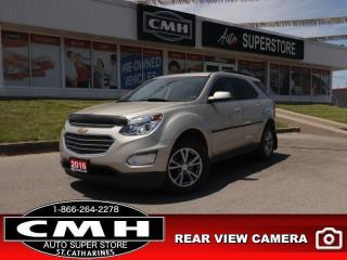 Used 2016 Chevrolet Equinox LT  CAM HTD-SEATS BT CLIMATE ALLOYS for sale in St. Catharines, ON