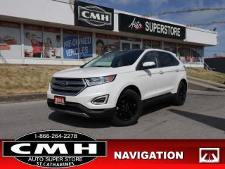 Used 2016 Ford Edge SEL  LEATH NAV PANO-ROOF CAM P/GATE BS P/SEATS for sale in St. Catharines, ON