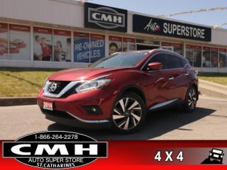 Used 2016 Nissan Murano Platinum  AWD NAV PANO-ROOF CS HS CAM P/SEATS for sale in St. Catharines, ON