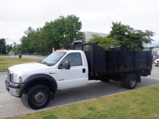 Used 2006 Ford F-550 Flat Deck 14 foot 4WD Dually Diesel Power Tailgate for sale in Burnaby, BC