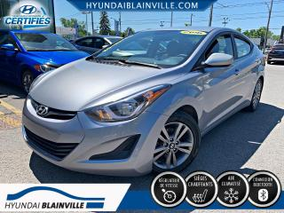 Used 2016 Hyundai Elantra GL BLUETOOTH, BANCS CHAUFFANTS. A/C, CRU for sale in Blainville, QC