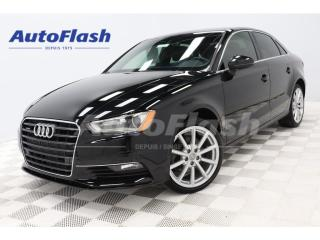 Used 2016 Audi A3 Progressiv Quattro *Push-Start *Camera Park-Sensor for sale in St-Hubert, QC