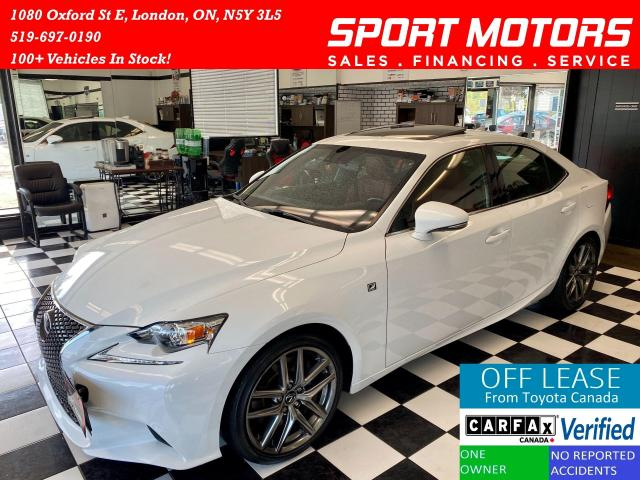 2016 Lexus IS 300 F-Sport+Red Leather+Navigation+Camera+AccidentFree
