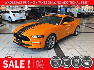 Used 2019 Ford Mustang GT Premium - Nav / Leather / No Dealer Fees for sale in Richmond, BC