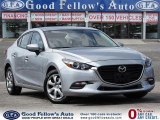 Used 2017 Mazda MAZDA3 GX MODEL, SKYACTIV, REARVIEW CAMERA for sale in Toronto, ON