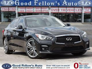 Used 2016 Infiniti Q50 SPORT MODEL, 6CYL 3L TURBO,POWER SEATS, NAVIGATION for sale in Toronto, ON