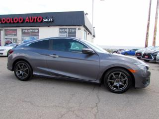Used 2017 Honda Civic TOURING COUPE TURBO NAVIGATION CAMERA CERTIFIED for sale in Milton, ON