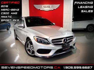 Used 2015 Mercedes-Benz C-Class C300 4MATIC | CERTIFIED | AMG | ACCIDENT FREE | FINANCE @ 4.65% for sale in Oakville, ON