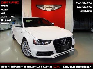 Used 2015 Audi A4 A4 S-LINE QUATTRO    ACCIDENT FREE   CERTIFIED   FINANCE @ 4.65% for sale in Oakville, ON