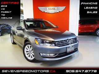 Used 2013 Volkswagen Passat TDI HIGHLINE | SCREENI | CERTIFIED | FINANCE @ 4.65% for sale in Oakville, ON