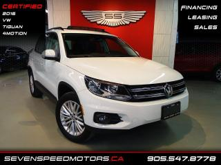 Used 2016 Volkswagen Tiguan 4MOTION PANO   BACK-UP CAM   CERTIFIED   FINANCE @4.65% for sale in Oakville, ON
