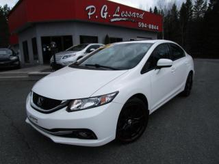 Used 2015 Honda Civic Touring gps siege cuir chauffant toit camera bluetooth for sale in St-Prosper, QC