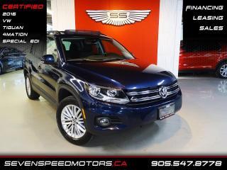 Used 2016 Volkswagen Tiguan 4MOTION PANO   NAVI   CERTIFIED   FINANCE @4.65% for sale in Oakville, ON