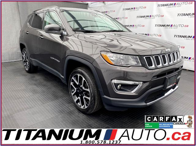 2018 Jeep Compass LIMITED+4X4+GPS+Camera+Pano Roof+Leather+Apple Pla