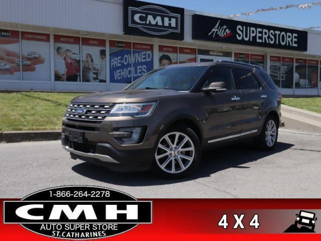 2016 Ford Explorer Limited  4WD DVD CW LD 6-PASS ROOF BT HS