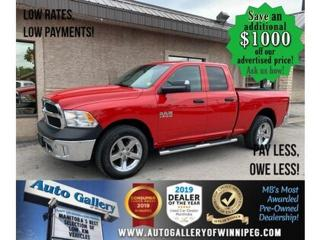 Used 2017 RAM 1500 4WD Quad Cab 140.5  ST for sale in Winnipeg, MB
