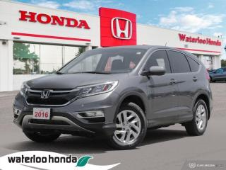 Used 2016 Honda CR-V One Owner, CR-V EX Leased New Right here at Waterloo Honda! Certified Powertrain Warranty Until 07/1 for sale in Waterloo, ON