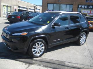 Used 2014 Jeep Cherokee 4WD Limited V6 NAV LEATHER PANORAMIC SUNROOF 1owne for sale in North York, ON