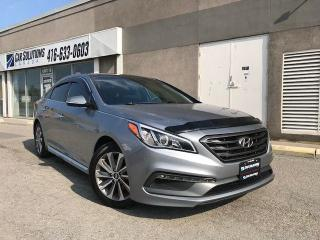 Used 2015 Hyundai Sonata Sport-sunroof-alloys-camera for sale in Toronto, ON