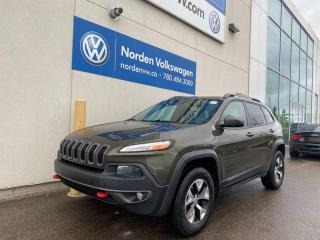 Used 2015 Jeep Cherokee TRAILHAWK 4WD - LOADED LEATHER / NAVI for sale in Edmonton, AB