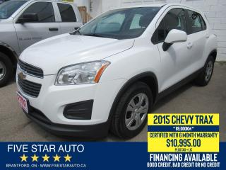 Used 2015 Chevrolet Trax LS *LOW KM* Certified w/ 6 Month Warranty for sale in Brantford, ON