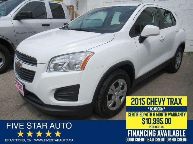 2015 Chevrolet Trax LS *LOW KM* Certified w/ 6 Month Warranty