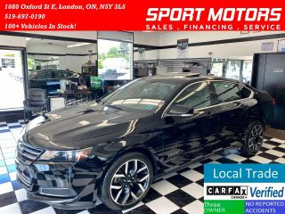 Used 2017 Chevrolet Impala LT+Leather+Camera+Apple Carplay+Pano Roof+Sensors for sale in London, ON