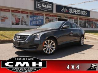 Used 2017 Cadillac ATS 2.0 Turbo  AWD CAM LEATH P/SEATS BT HS for sale in St. Catharines, ON