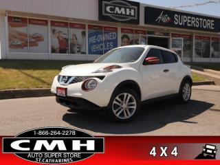 Used 2016 Nissan Juke SV  REAR-CAM HTD-STS ALLOYS BLUETOOTH AUTO for sale in St. Catharines, ON