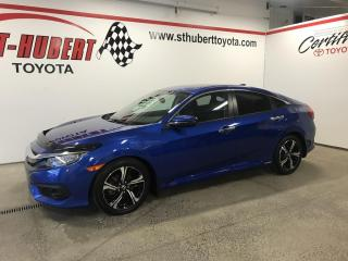 Used 2018 Honda Civic Touring, NAVIGATION/GPS, TURBO for sale in St-Hubert, QC