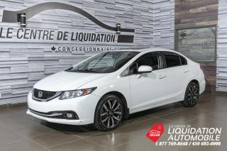 Used 2015 Honda Civic Touring+MAGS+CUIR+A/C+TOIT+CAM/REC+BLUETOT+4 PNEUS for sale in Laval, QC