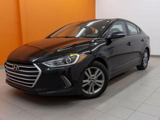 Used 2018 Hyundai Elantra ALERTE ANGLE MORT CAMÉRA *SIÈGES / VOLANT CHAUFF* for sale in St-Jérôme, QC