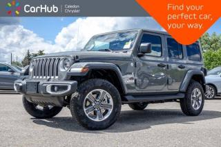 New 2020 Jeep Wrangler Unlimited New Sahara 4x4 Diesel Sky One-Touch Power Top Navigation Backup Camera Bluetooth Blind Spot for sale in Bolton, ON