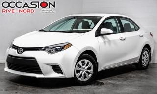 Used 2016 Toyota Corolla CE BLUETOOTH+A/C for sale in Boisbriand, QC