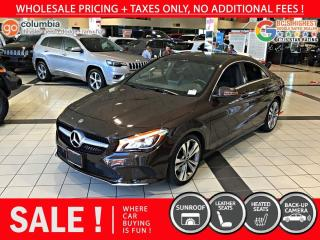 Used 2018 Mercedes-Benz CLA-Class CLA 250 4MATIC - Local / Sunroof / Leather for sale in Richmond, BC