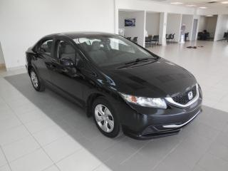 Used 2013 Honda Civic 2013 LX MANUELLE A/C BT CRUISE SIÈGES CH for sale in Dorval, QC