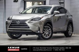 Used 2017 Lexus NX 200t PREMIUM AWD; CUIR TOIT CAMERA ANGLES MORT MAGS CAMERA DE RECUL - TOIT-OUVRANT - MONITEUR ANGLES MORT - VOLANT CHAUFFANT - HAYON ASSISTÉ - for sale in Lachine, QC