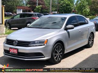 Used 2015 Volkswagen Jetta Comfortline|NO ACCIDENT|SUNROOF|BT|CERTIFIED for sale in Oakville, ON