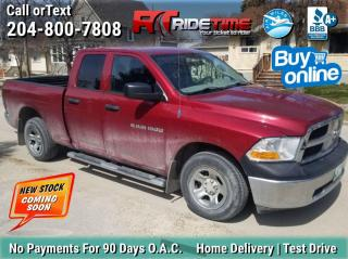 Used 2012 RAM 1500 SXT for sale in Winnipeg, MB