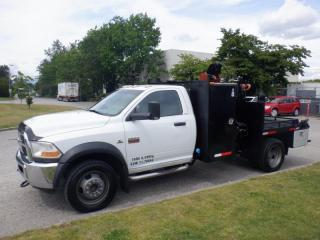 Used 2011 Dodge Ram 4500 Flat Deck 6 foot with Crane  4WD Diesel for sale in Burnaby, BC