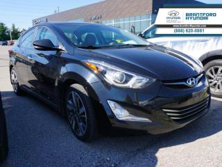 Used 2015 Hyundai Elantra Limited  - Sunroof -  Navigation - $104 B/W for sale in Brantford, ON