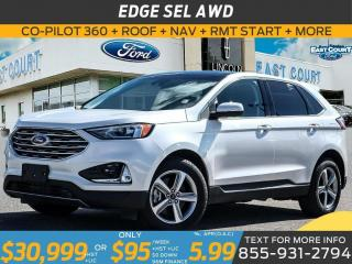 Used 2019 Ford Edge SEL AWD NAV| LANE KEEP| POWER LIFTGATE| BLIS| DUAL ZONE AC for sale in Scarborough, ON