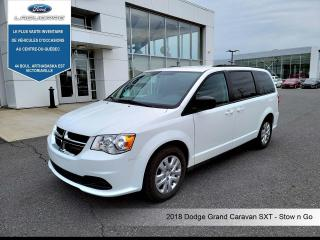 Used 2018 Dodge Grand Caravan SXT - Stow N Go for sale in Victoriaville, QC