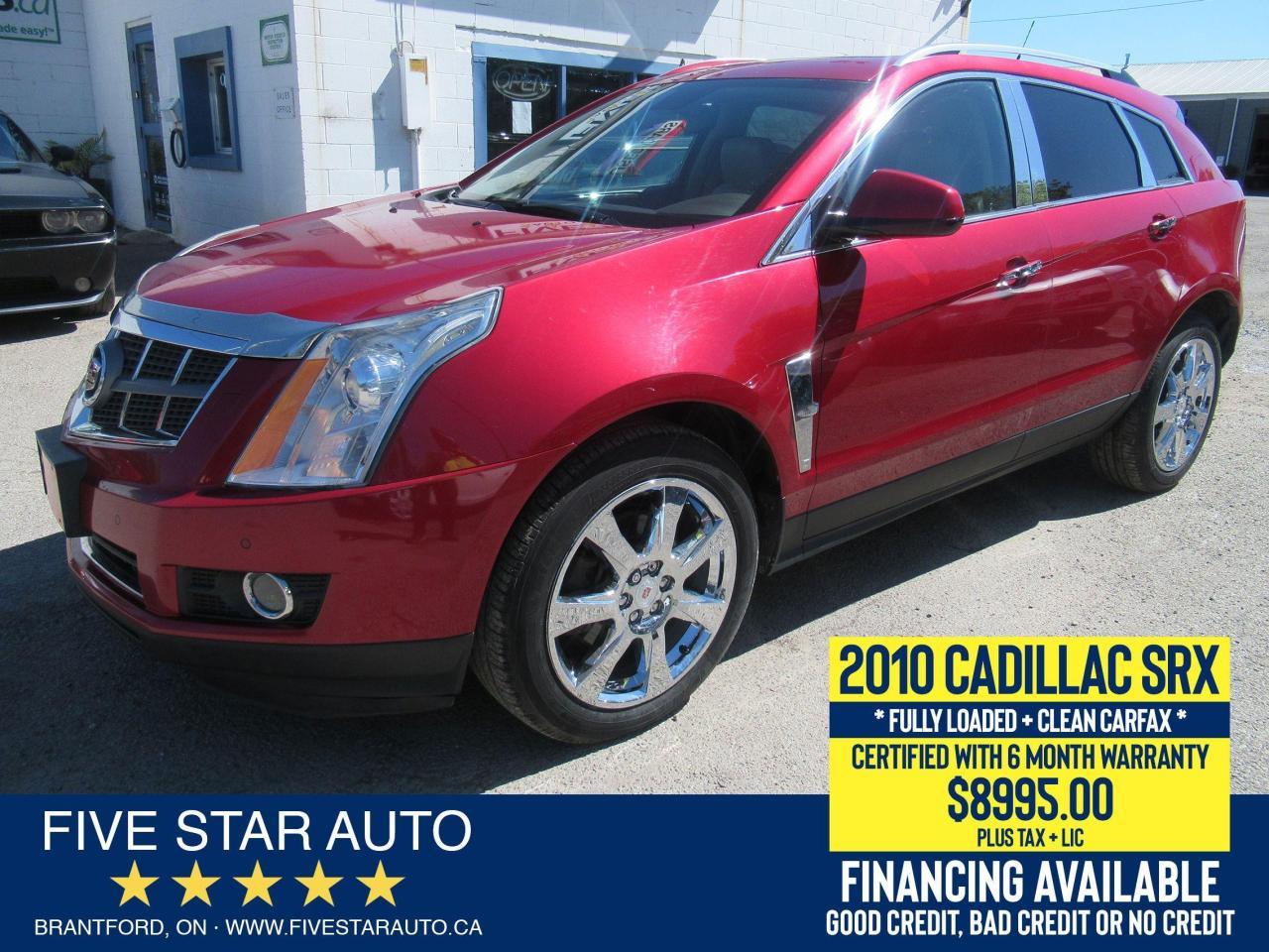2010 Cadillac SRX PERFORMANCE *Clean Carfax* - Certified + Warranty