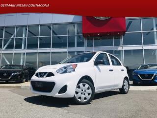 Used 2017 Nissan Micra S MANUELLE - BAS KILO * TAUX À PARTIR DE 2.49% * for sale in Donnacona, QC